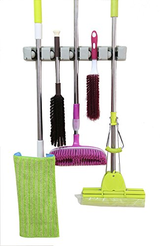 Mop and Broom Holder Wall Mounted Garden Tool Storage Rack Storage Organizer